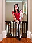 Summer SURE&SECURE Deluxe Top of Stairs Wood Walk Thru Gate