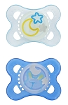 MAM Silicone Night Pacifiers 2+m - 2 Pack