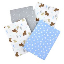 Cuddle Time Animals Receiving Blanket 4-Pack Boy
