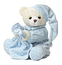 Aurora Dreamy Baby Boy Bear with Blankie 10""