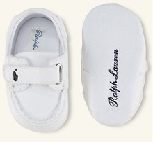 Ralph Lauren Layette Sander EZ Boat Shoe in White