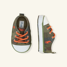 Ralph Lauren Layette Harbour Low Canvas Sneaker, Army Camouflage