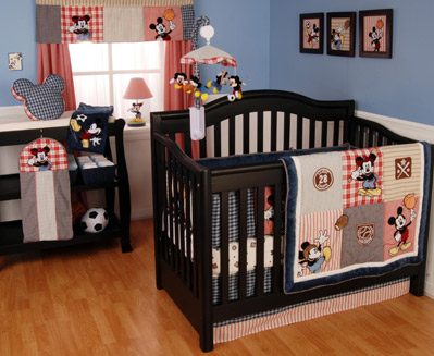 Kids Line Vintage Mickey 4 pc.Crib Bedding