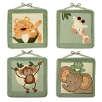 NoJo Jungle Babies 4 Piece Wall Hanging