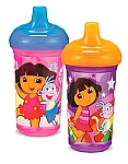 Munchkin Two 9 oz. Dora the Explorer Spill-Proof Cups