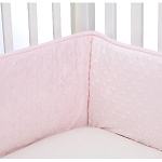 Kids Line Super Soft Crib Bumper Pink