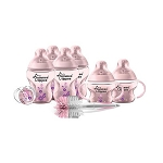 Tommee Tippee Closer to Nature® Newborn Starter Set Pink 0m+ Extra Value Bpa Free