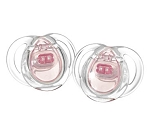 Tommee Tippee Closer to Nature® Clear Silicone Pacifier 0-6m - 2pk BPA Free Girl