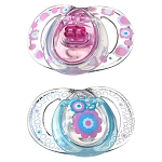 Tommee Tippee Closer to Nature® Stylish Silicone Pacifier 0-6m Girl 2pk BPA Free
