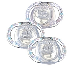 Tommee Tippee Closer to Nature® Style Silicone Pacifier 0-3m Girl 3pk BPA Free