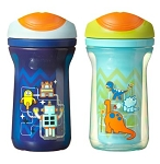 Tommee Tippee Explore® Easiflow Drinking Cups 12m+ -9oz Boy 2pk BPA Free