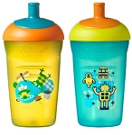 Tommee Tippee Explora® Easiflow Water Bottle 12m+ Boy BPA Free 2pk