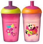Tommee Tippee Explora® Easiflow Water Bottles 12m+ BPA Free Girl 2pk