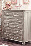 Munire Nantucket 5-Drawer Dresser Light Grey