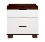 Babyletto Modo 3 Drawer Changer, White and Espresso