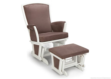 Delta Eclipse Glider & Ottoman White-Warm Misty