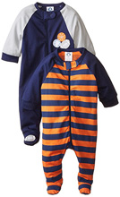 Gerber Zip Front Sleep'n Play 2-Pack Newborn Boy