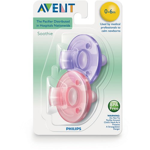Avent Soothie Pacifier 0 3m Bpa Free Pink Amp Purple 2