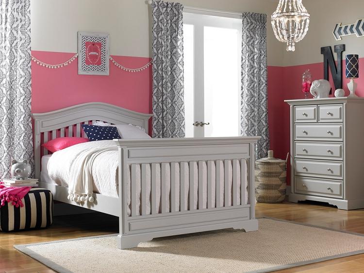 Dolce Babi Venezia Convertible Crib Misty Grey Ideal Baby