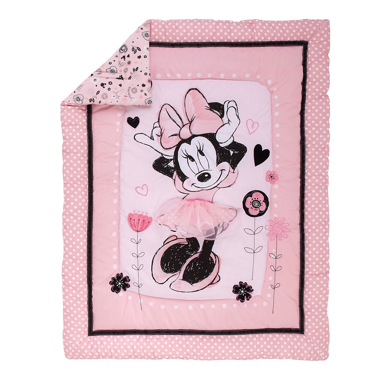 disney minnie mouse hello gorgeous 3 crib bedding set