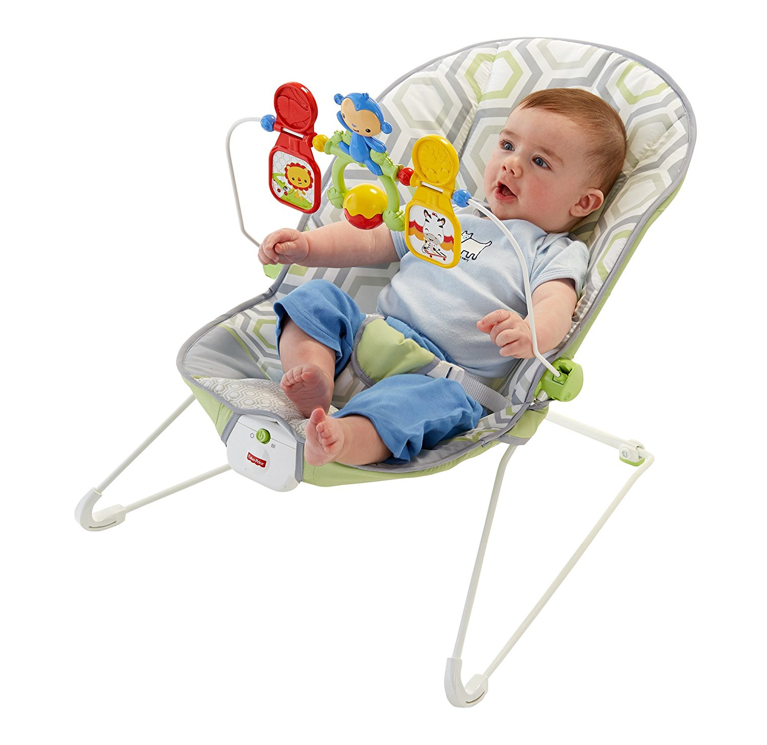 Fisher Prince Baby S Bouncer Geo Meadow Ideal Baby