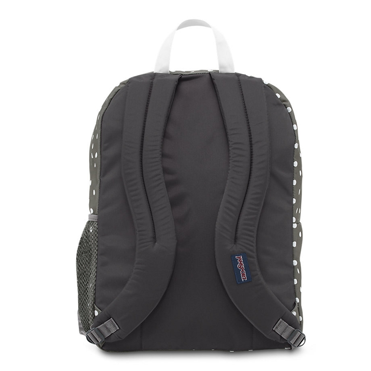 Jansport Big Student Backpack Shady Grey White Dots
