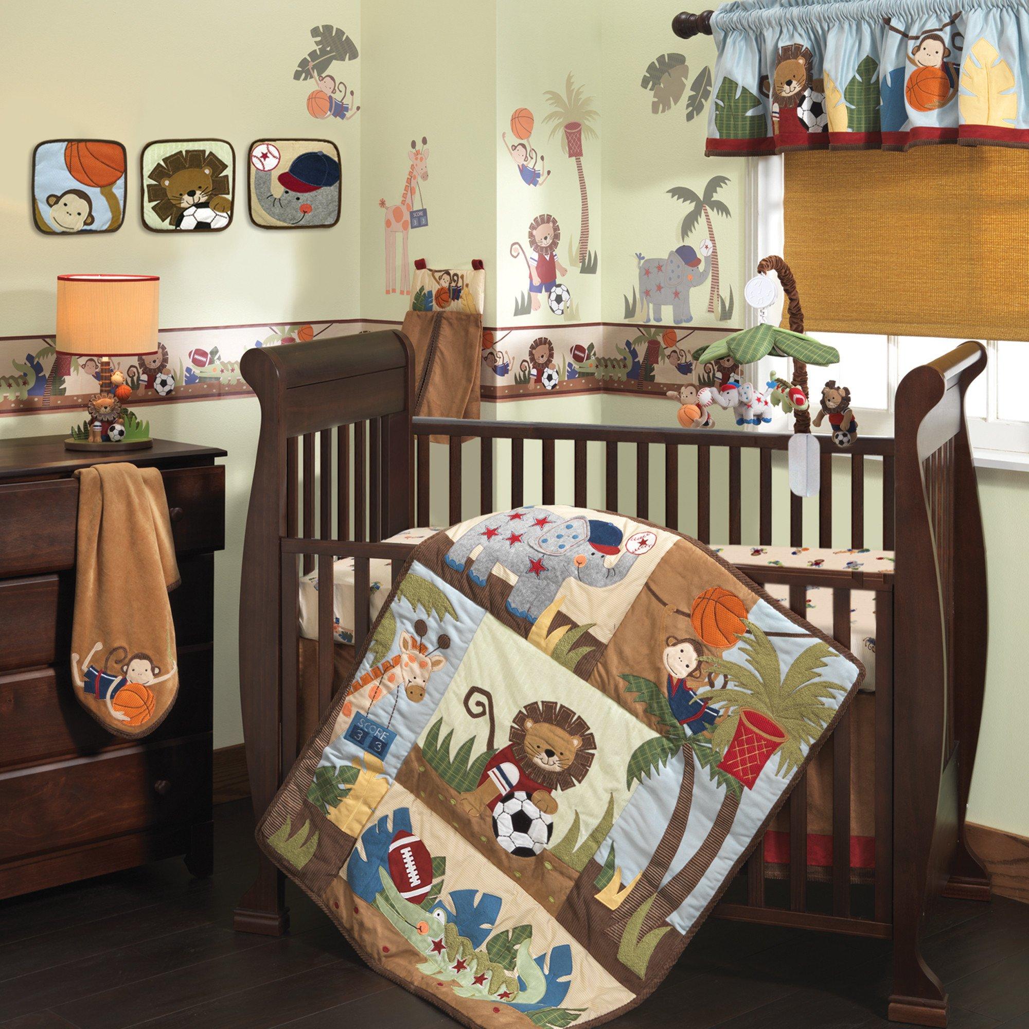 Lambs Amp Ivy Team Safari 9 Piece Crib Bedding Set Ideal Baby