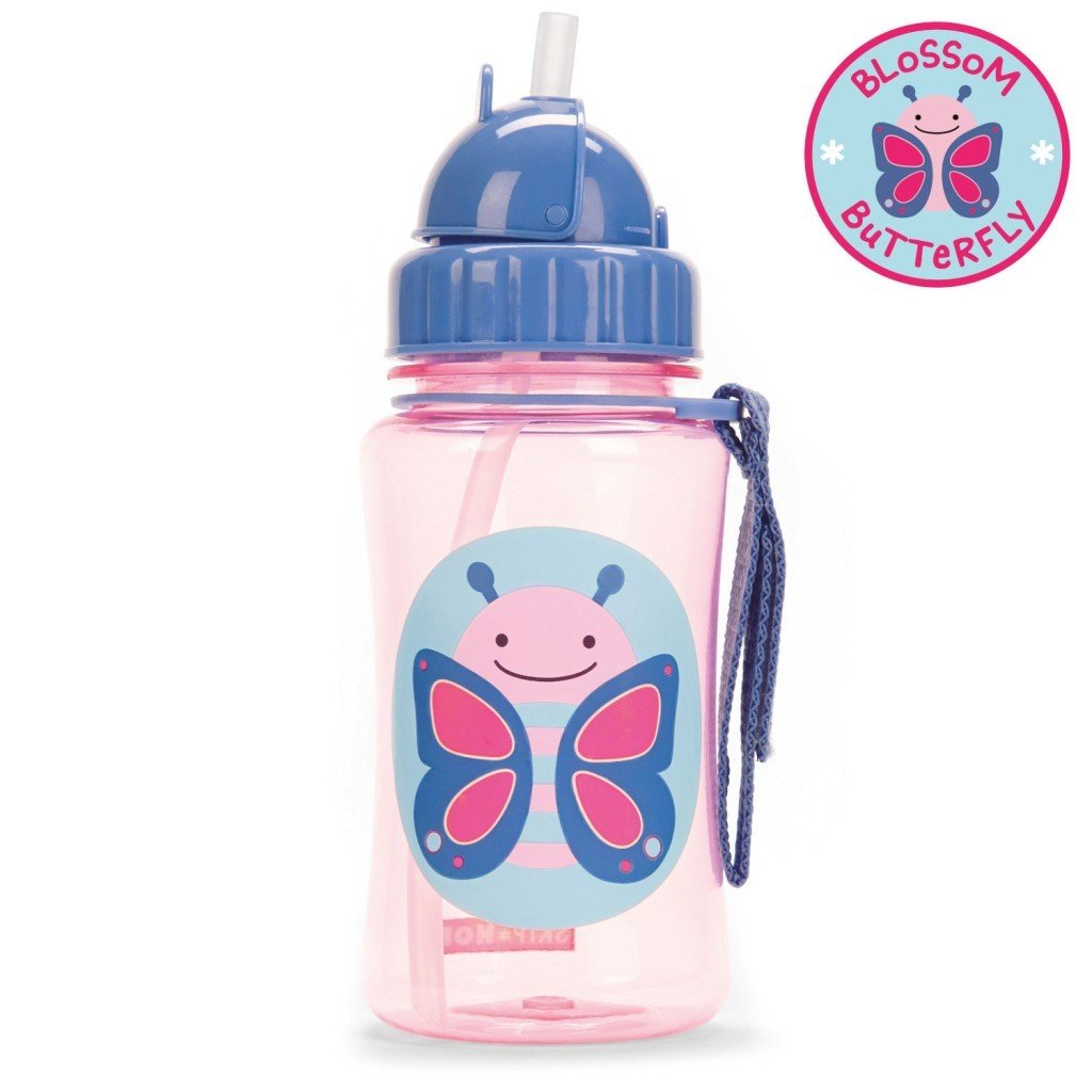 Skip Hop Zoo Straw Bottle Butterfly Ideal Baby