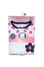 Gerber Zip Front Sleep'n Play 2-Pack Newborn Flower-Girl