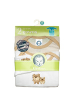 Gerber Gown Lap Shoulder Bear 2-Pack 0-6 Months-Neutral