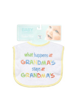 Baby Essentials Feeder Bib Grandma Saying