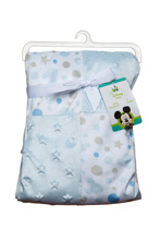 Cudlie Accessories Mickey Mouse with Stars Patchworks Blanket