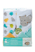 Cudle Time Hooded Towel and Washcloths Set Neutral