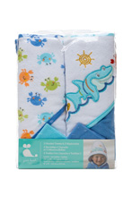 Cudle Time Hooded Towel and Washcloths Set Boy
