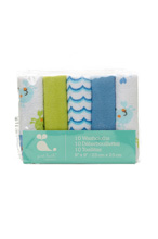 Cudle Time Washcloths Boy 10-Pack