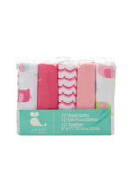 Cudle Time Washcloths Girl 10-Pack