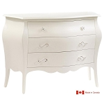 Natart Allegra 3 Drawer Dresser in French White