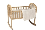 American Baby Company Organic Port A Crib Bedding, Natural
