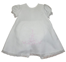 Anilu Dress White-Pink Girl