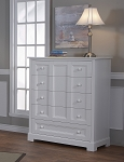 Pali Aria 5 Drawer Dresser in White
