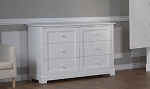 Pali Aria Double Drawer Dresser in White
