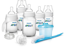 Philips-Avent Natural Newborn Starter Set, Clear