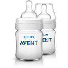 Philips AVENT Classic+ 4oz Baby Bottle Newborn Flow Nipple, 0m+ 2 Pack