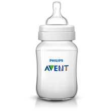 Philips AVENT Classic+ 9oz Baby Bottle, Slow Flow Nipple 1m+