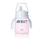 Phillips Avent Bottle to First Cup Trainer 4M+ -Pink
