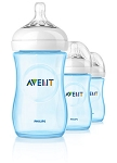 Phillips Avent Natural Bottle 3-Pack 9oz Blue