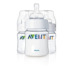 Philips AVENT 4 Ounce Bottles, 3 Pack BPA Free