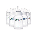 AVENT Anti-Colic Extra Value 5-Pack Feeding Bottles 9oz BPA-free 1m+