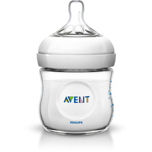Philips AVENT Natural Baby Bottle, 4oz, Newborn Flow 0m+