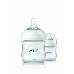Philips Avent 4oz BPA Free Natural Polypropylene Bottles 2 Pack